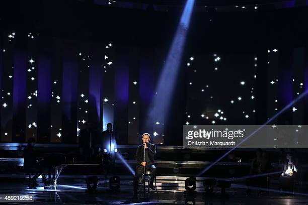 Stefan Mross attend the television show 'Willkommen bei Carmen Nebel' at Velodrom on September 19 2015 in Berlin Germany