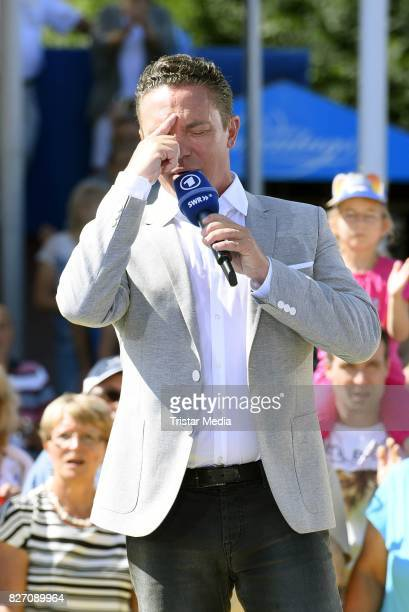 Stefan Mross during the ARD Live TV Show 'Immer Wieder Sonntags' at EuropaPark on August 6 2017 in Rust Germany