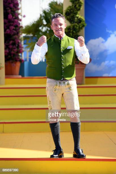 Stefan Mross performs in the ARD Live TV Show 'Immer Wieder Sonntags' in Rust at the EuropaPark on May 28 2017 in Rust Germany