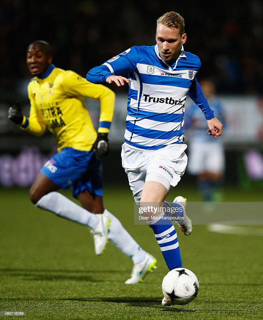 Stefan Nijland of Zwolle runs with the ball during the Dutch Eredivisie match between SC Cambuur and PEC Zwolle at Cambuur Stadion on December 20...