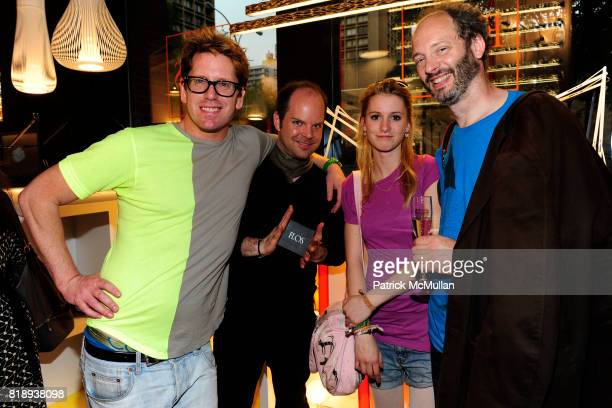 Stefan Nilsson Peter Nygren Myriam Skote and Leo Gullbraing attend FLOS Private Store Viewing and Dinner at 152 Greene St on May 14 2010 in New York...