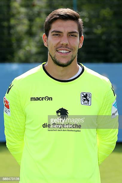 Stefan Ortega poses during the official team presentation of TSV 1860 Muenchen at Trainingsgelaende on July 22 2016 in Munich Germany