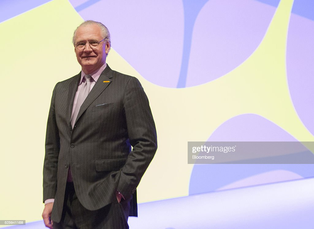 Stefan Oschmann, deputy chief executive officer of Merck KGaA, poses for a photograph during the pharmaceutical company's annual general meeting in Frankfurt, Germany, on Friday, April 29, 2016. Merck's Chief Executive Officer Karl-Ludwig Kley will replace Werner Wenning as chairman of the supervisory board of EON SE after the company's annual general meeting on June 8, EON said. Photographer: Martin Leissl/Bloomberg via Getty Images