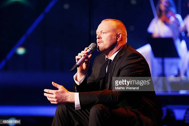 Stefan Raab speaks on stage at the 19th Annual German Comedy Awards at Coloneum on October 20 2015 in Cologne Germany