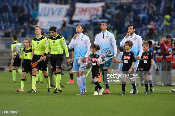 Stefan Radu during the Italian Serie A football match between SS Lazio and AC Napoli at the Olympic Stadium in Rome on april 09 2017