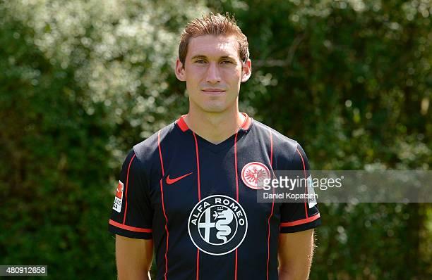 Stefan Reinartz poses during the Eintracht Frankfurt team presentation on July 15 2015 in Frankfurt am Main Germany