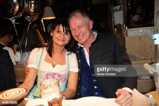 Stefan Reuter and Annette during the 'Almauftrieb' as part of the Oktoberfest 2017 at Kaeferschaenke Tent on September 17 2016 in Munich Germany