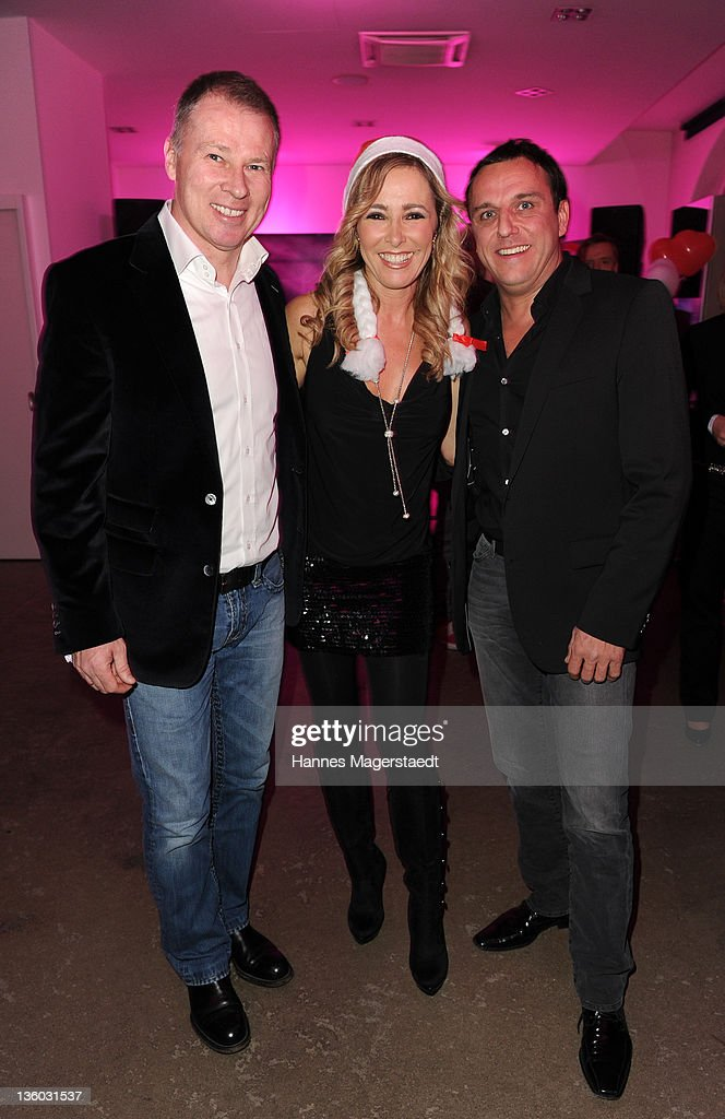 Stefan Reuter Gundis Zambo and Christian Abt attend the ABC For Kids Charity Event at the baSH Club on December 16 2011 in Munich Germany
