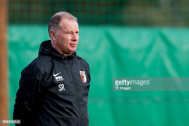 Stefan Reuter of FC Augsburg looks on during the seven day of the training camp in Marbella on January 10 2017 in Marbella Spain Photo by...