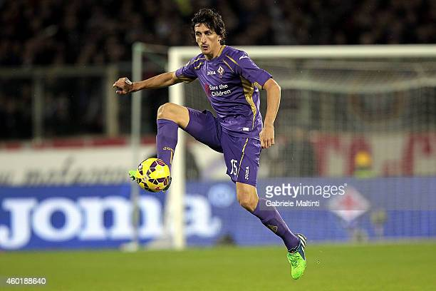 Stefan Savic of ACF Fiorentina in action during the Serie A match between ACF Fiorentina and Juventus FC at Stadio Artemio Franchi on December 5 2014...