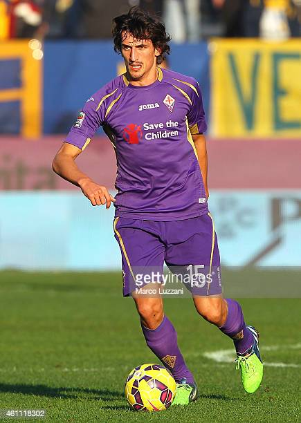 Stefan Savic of ACF Fiorentina in action during the Serie A match between Parma FC and ACF Fiorentina at Stadio Ennio Tardini on January 6 2015 in...