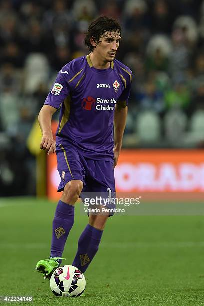 Stefan Savic of ACF Fiorentina in action during the Serie A match between Juventus FC and ACF Fiorentina at Juventus Arena on April 29 2015 in Turin...