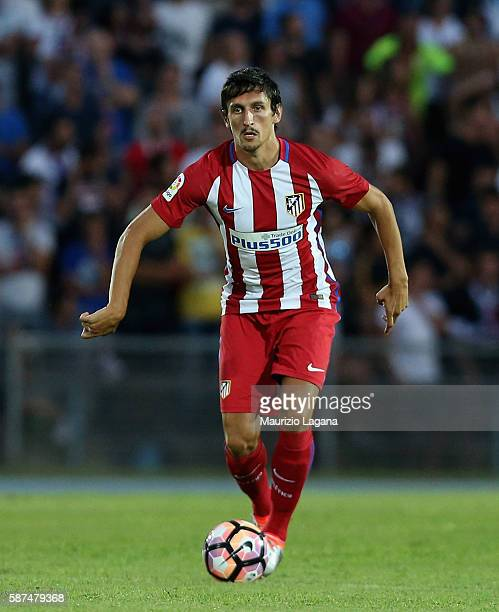 Stefan Savic of Atletico de Madrid during presseason friendly match between FC Crotone and Club Atletico de Madrid at Stadio Comunale Gigi Marulla on...