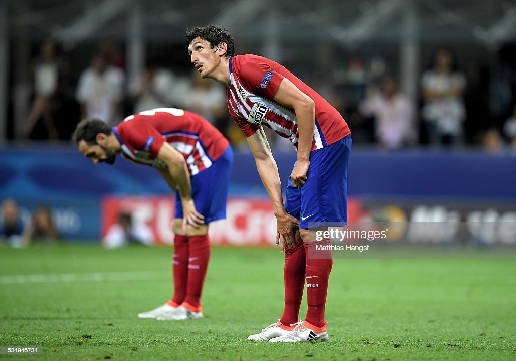 <a gi-track='captionPersonalityLinkClicked' href=/galleries/search?phrase=Stefan+Savic&family=editorial&specificpeople=6135329 ng-click='$event.stopPropagation()'>Stefan Savic</a> of Atletico Madrid is seen during the UEFA Champions League Final match between Real Madrid and Club Atletico de Madrid at Stadio Giuseppe Meazza on May 28, 2016 in Milan, Italy.