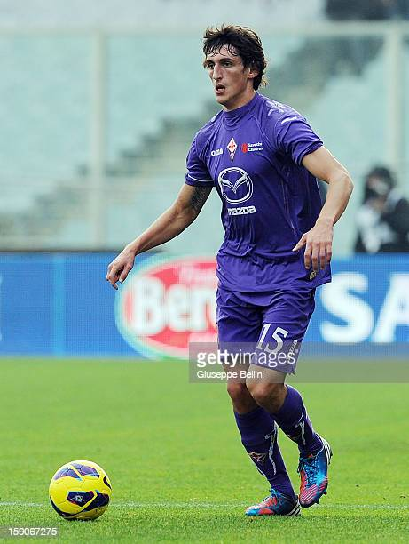 Stefan Savic of Fiorentina in action during the Serie A match between ACF Fiorentina and Pescara at Stadio Artemio Franchi on January 6 2013 in...