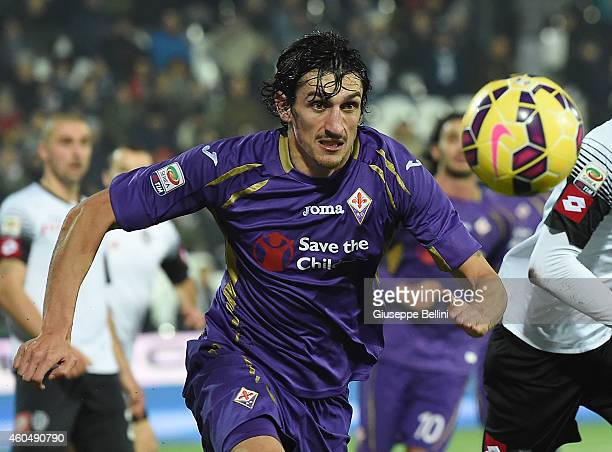 Stefan Savic of Fiorentina in action during the Serie A match between AC Cesena and ACF Fiorentina at Dino Manuzzi Stadium on December 14 2014 in...