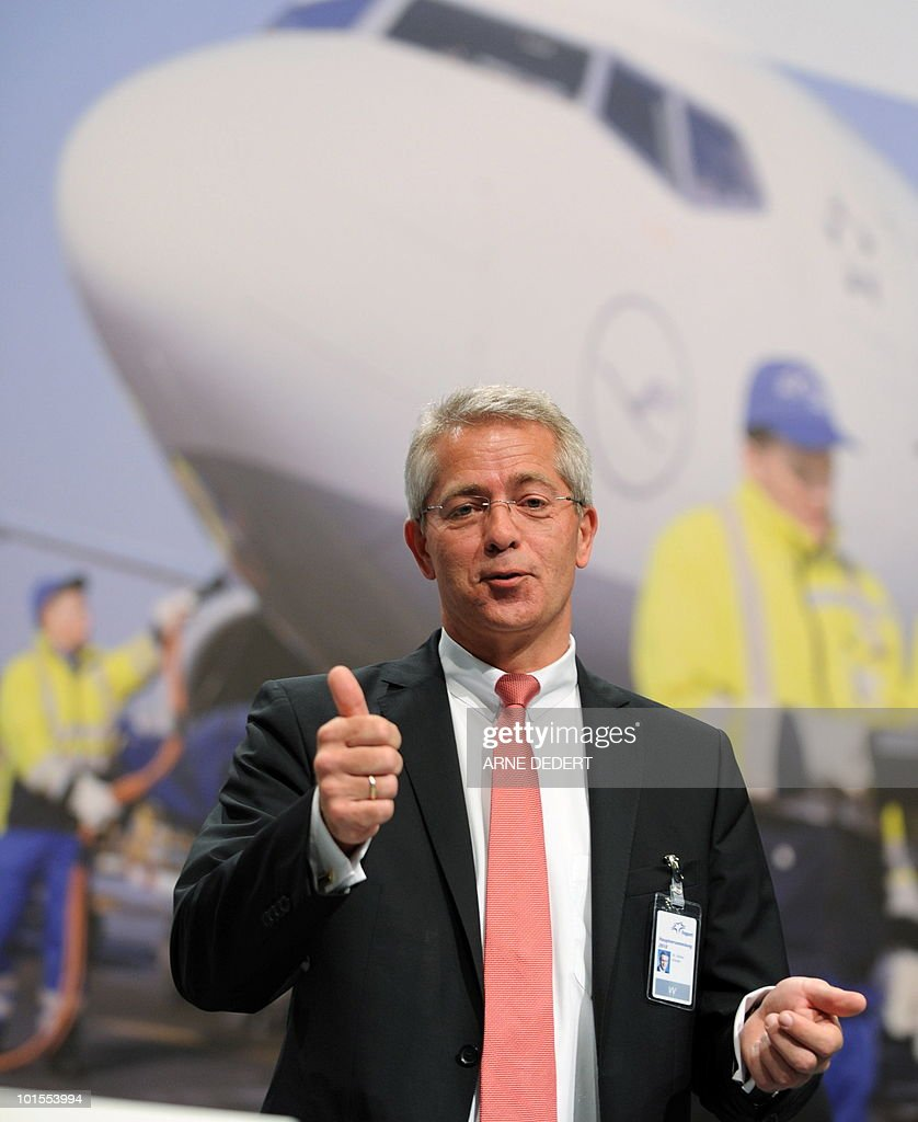 Stefan Schulte, chairman of the Fraport AG, poses for photographers ahead of the company's annual general meeting on June 2, 2010 in Frankfurt/M., western Germany. Fraport operates Germany's biggest airport, the Rhein-Main airport in Frankfurt am Main.