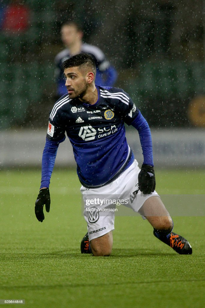 Stefan Silva of GIF Sundsvall during the Allsvenskan match between GIF Sundsvall and Kalmar FF at Norrporten Arena on April 28, 2016 in Sundsvall, Sweden.