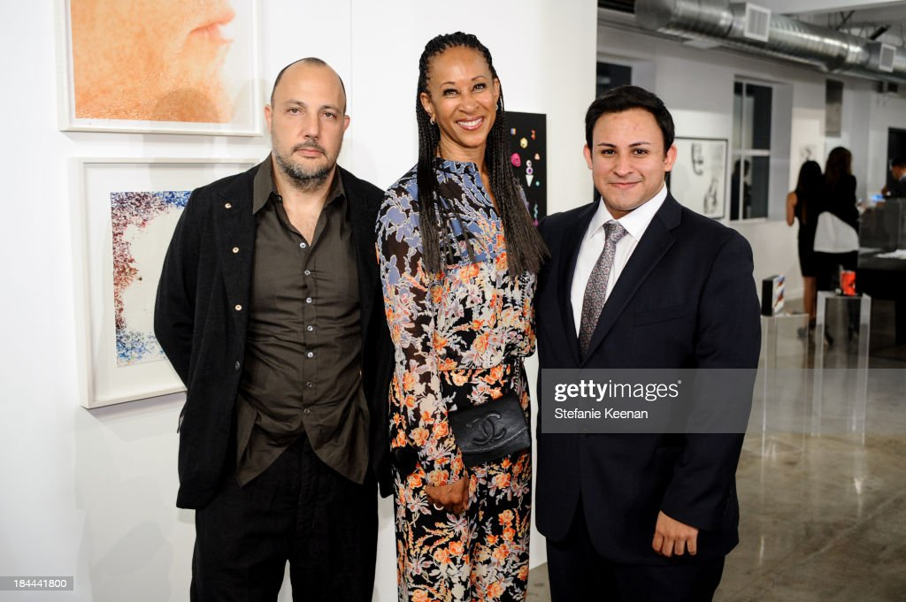 Stefan Simchowitz, Joy Simmons and Cesar Garcia attend The Mistake Room's Benefit Auction on October 13, 2013 in Los Angeles, California.