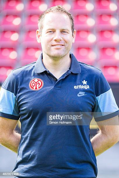Stefan Stuewe poses during the 1 FSV Mainz Team Presentation at Coface Arena on July 18 2014 in Mainz Germany