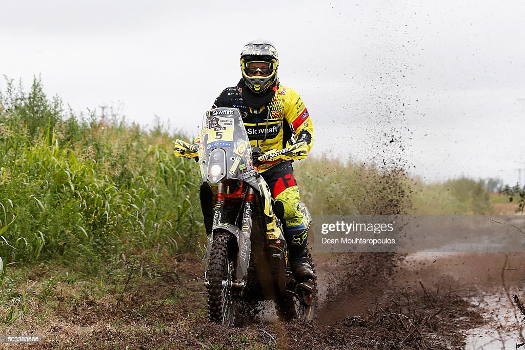 Stefan Svitko of Slovakia riding on and for KTM 450 RALLY REPLICA SLOVNAFT TEAM competes between Villa Carlos Paz and Termas de Rio Hondo in the 2016 Dakar Rally on January 4, 2016 near Dean Funes, Argentina.
