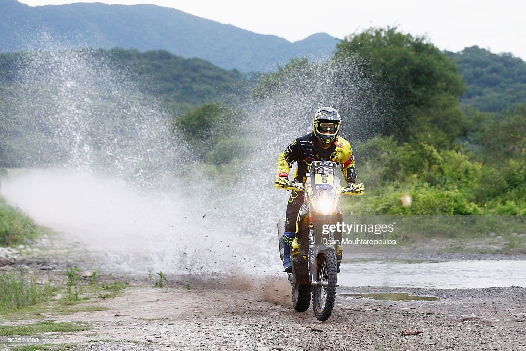 Stefan Svitko of Slovakia riding on and for KTM 450 RALLY REPLICA SLOVNAFT TEAM competes on day three of the 2016 Dakar Rally between Termas de Rio Hondo and Jujuy on January 5, 2016 near San Miguel de Tucuman, Argentina.