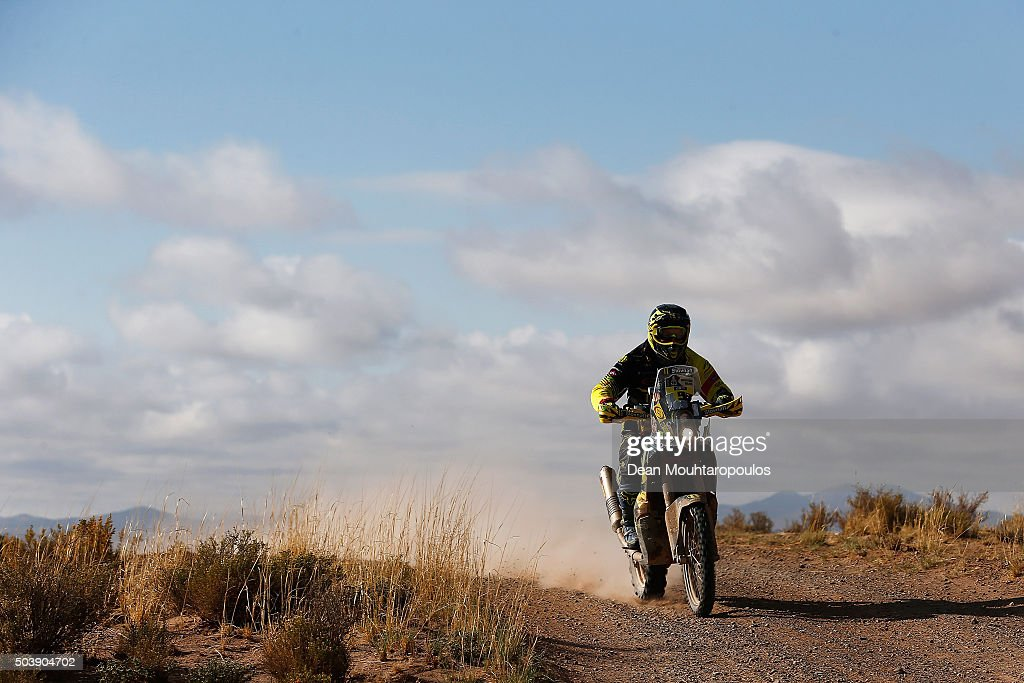 Stefan Svitko of Slovakia riding on and for KTM 450 RALLY REPLICA SLOVNAFT TEAM competes on day 5 from Jujuy in Argentina to Uyuni in Bolivia during stage five of the 2016 Dakar Rally on January 7, 2016 in Villazon, Bolivia .