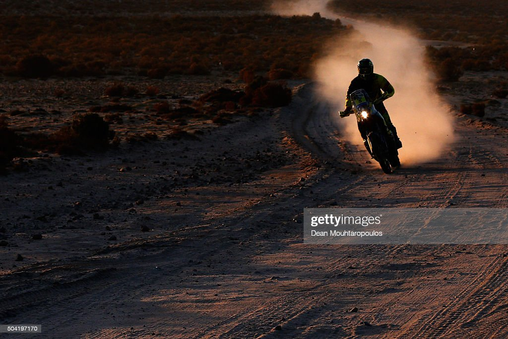 Stefan Svitko of Slovakia riding on and for KTM 450 RALLY REPLICA SLOVNAFT TEAM competes on day 6 during stage six of the 2016 Dakar Rally on January 8, 2016 in near Uyuni, Bolivia.