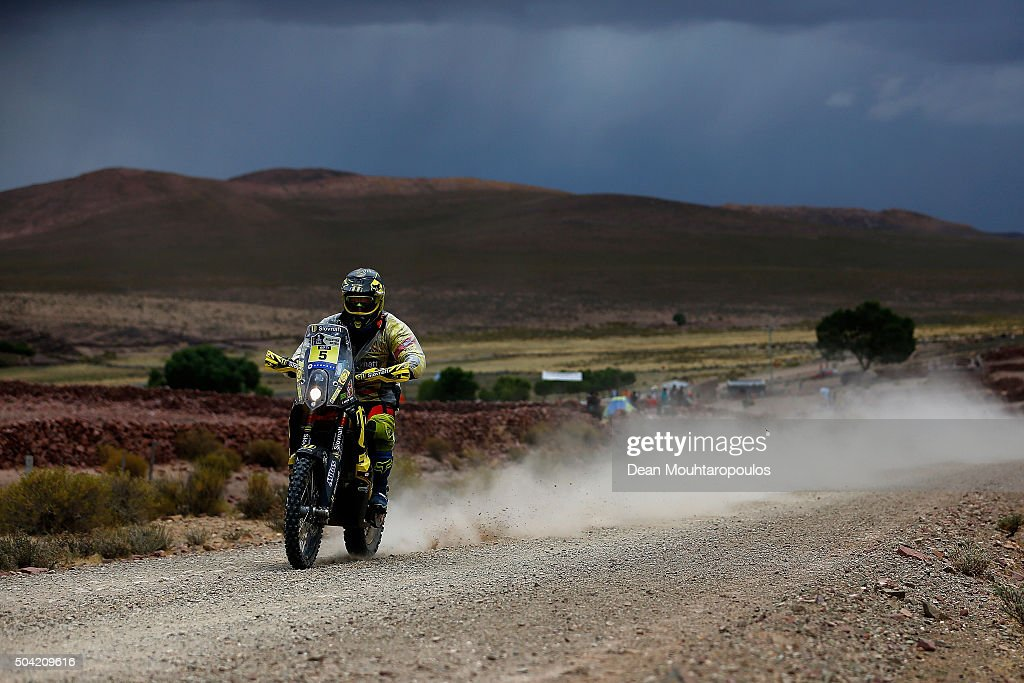 Stefan Svitko of Slovakia riding on and for KTM 450 RALLY REPLICA SLOVNAFT TEAM competes on day 7 stage seven from Uyuni in Bolivia to Salta in Argentina during the 2016 Dakar Rally on January 9, 2016 in near La Quiaca, Argentina.