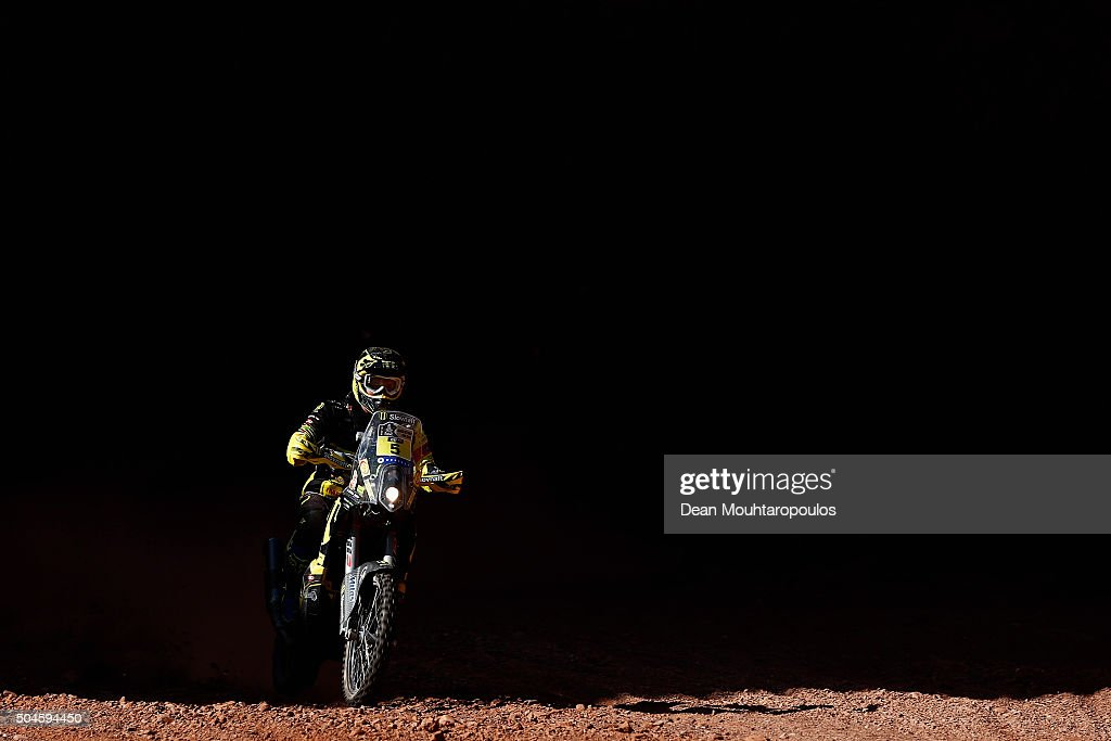 Stefan Svitko of Slovakia riding on and for KTM 450 RALLY REPLICA SLOVNAFT TEAM competes on day 9 stage eight from Salta to Bellen during the 2016 Dakar Rally on January 11, 2016 in near San Rafae Salta, Argentina.