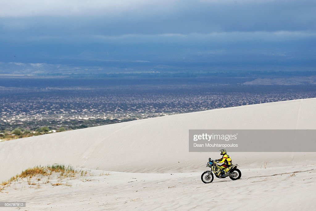 Stefan Svitko of Slovakia riding on and for KTM 450 RALLY REPLICA SLOVNAFT TEAM competes on day 11 stage ten between Belen and La Rioja during the 2016 Dakar Rally on January 13, 2016 in near Fiambala, Argentina.