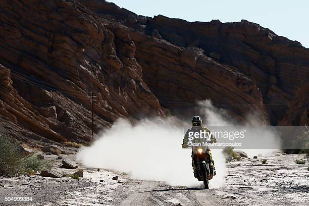 Stefan Svitko of Slovakia riding on and for KTM 450 RALLY REPLICA SLOVNAFT TEAM competes on day 12 / stage eleven between La Rioja to San Juan during...