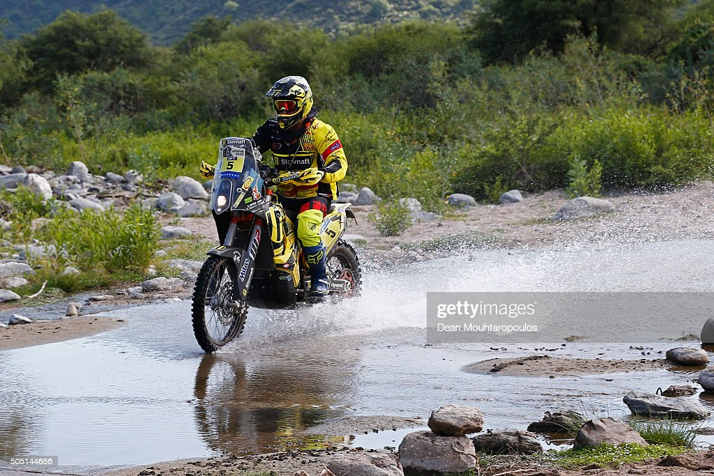 Stefan Svitko of Slovakia riding on and for KTM 450 RALLY REPLICA SLOVNAFT TEAM competes on day 13 / stage twelve between San Juan to Villa Carlos Paz during the 2016 Dakar Rally on January 15, 2016 near Serrezuela, Argentina.