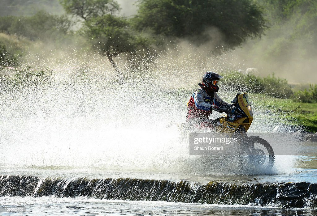 Stefan Svitko of team Oraving Slovakia competes in stage 10 from Cordoba to La Rioja during the 2013 Dakar Rally on January 15, 2013 in Cordoba, Argentina.