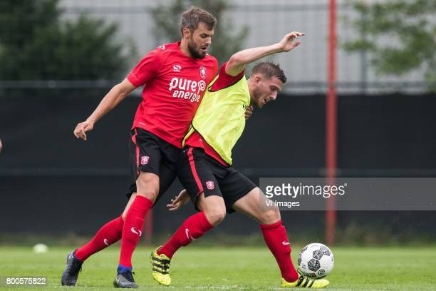 Stefan Thesker of FC Twente Jelle van der Heijden of FC Twenteduring a training session at Trainingscentrum Hengelo on June 24 2017 in Hengelo The...