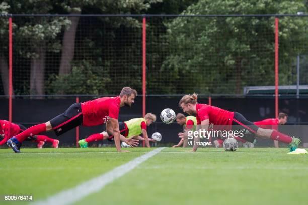 Stefan Thesker of FC Twente Jeroen van der Lely of FC Twenteduring a training session at Trainingscentrum Hengelo on June 24 2017 in Hengelo The...