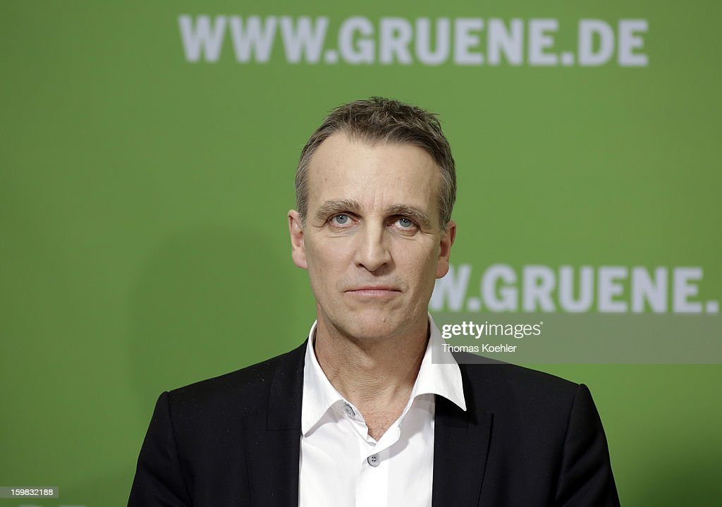 Stefan Wenzel, top candidate of the Green Party in Lower Saxony, a day after the SPD and German Greens party emerged with a hairline victory in Lower Saxony on January 21, 2013 in Berlin, Germany. Germany faces national elections later this year.