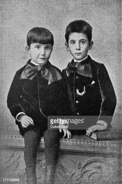 Stefan Zweig as a young boy with his brother SZ Austrian writer biographer diarist essayist novelist playwright poet translator 28 November 1881 22...