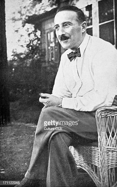 Stefan Zweig at Ossining NY Summer 1941 Austrian writer biographer diarist essayist novelist playwright poet translator 28 November 1881 22 February...