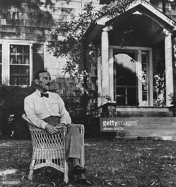 Stefan Zweig at Ossining NY Summer 1941