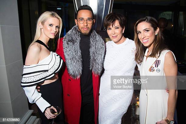 Stefania Allen Lewis Hamilton Kris Jenner and Kate Davidson Hudson attend the Editorialist Spring/Summer 2016 Issue Launch Party at the Hotel...