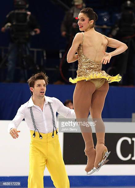 Stefania Berton and Ondrej Hotarek of Italy compete in the Pairs Short Program of the ISU European Figure Skating Championships 2014 held at the Syma...