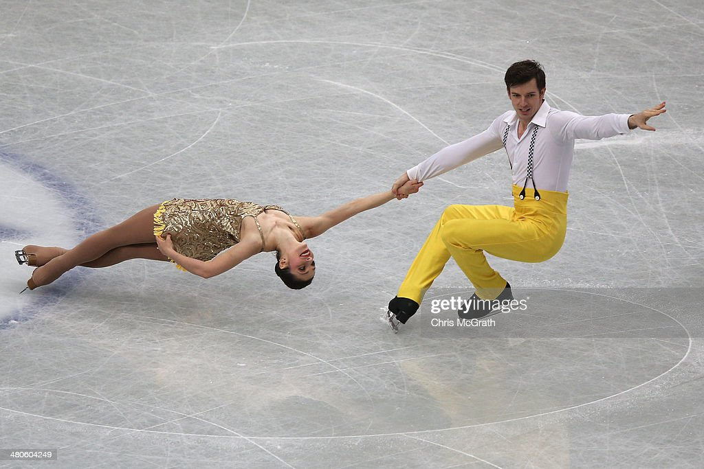 <a gi-track='captionPersonalityLinkClicked' href=/galleries/search?phrase=Stefania+Berton&family=editorial&specificpeople=4841337 ng-click='$event.stopPropagation()'>Stefania Berton</a> and Ondrej Hotarek of Italy compete in the Pairs Short Program during ISU World Figure Skating Championships at Saitama Super Arena on March 26, 2014 in Saitama, Japan.