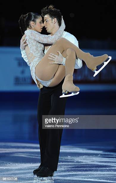 Stefania Berton and Ondrej Hotarek of Italy participate in the Gala Exhibition during the 2010 ISU World Figure Skating Championships on March 28...