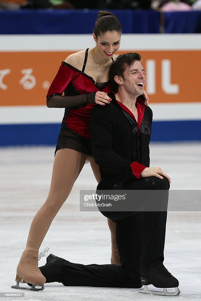 <a gi-track='captionPersonalityLinkClicked' href=/galleries/search?phrase=Stefania+Berton&family=editorial&specificpeople=4841337 ng-click='$event.stopPropagation()'>Stefania Berton</a> and Ondrej Hotarek of Italy react after finishing their routine in the Pairs Free Program during ISU World Figure Skating Championships at Saitama Super Arena on March 27, 2014 in Saitama, Japan.