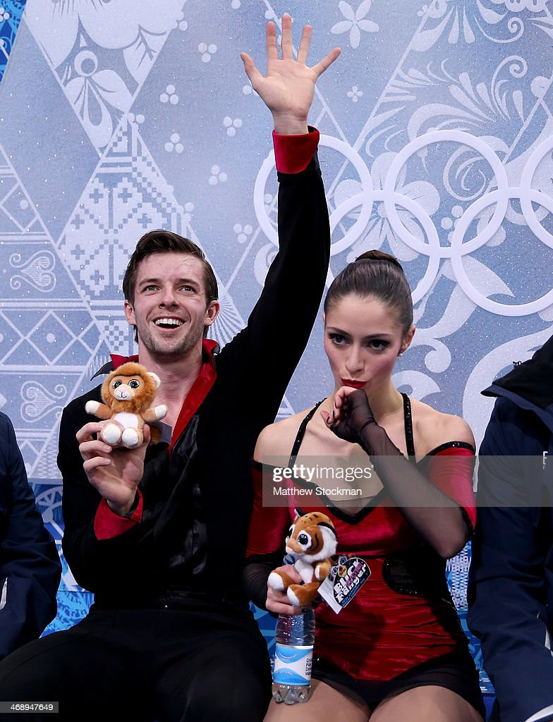 <a gi-track='captionPersonalityLinkClicked' href=/galleries/search?phrase=Stefania+Berton&family=editorial&specificpeople=4841337 ng-click='$event.stopPropagation()'>Stefania Berton</a> (R) and Ondrej Hotarek of Italy wait for the score the Figure Skating Pairs Free Skating during day five of the 2014 Sochi Olympics at Iceberg Skating Palace on February 12, 2014 in Sochi, Russia.