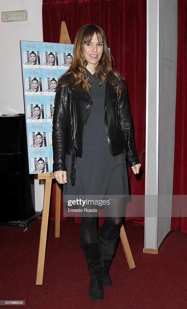 Stefania Montorsi attends the 'A Letto Dopo Il Carosello' theatre premiere at Teatro 7 on November 23, 2010 in Rome, Italy.