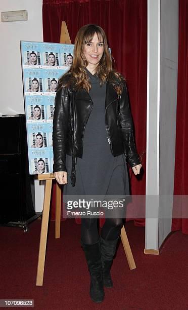 Stefania Montorsi attends the 'A Letto Dopo Il Carosello' theatre premiere at Teatro 7 on November 23 2010 in Rome Italy