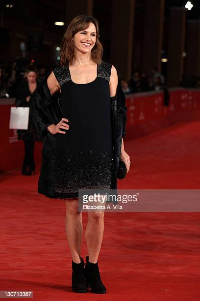 Stefania Montorsi attends the 'Hysteria' Premiere during the 6th International Rome Film Festival at Auditorium Parco Della Musica on October 28 2011...