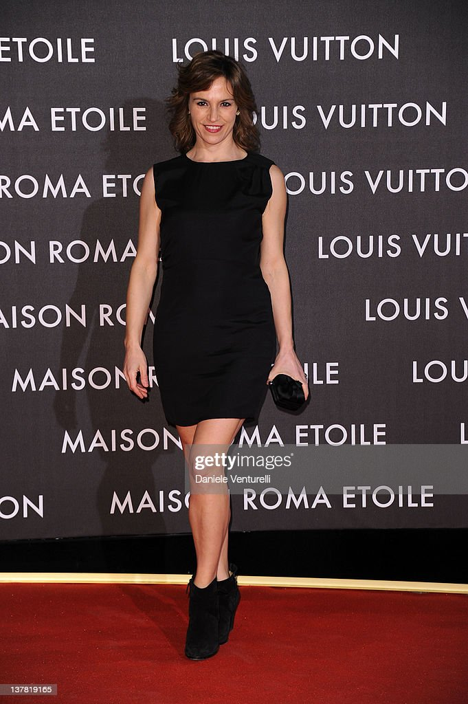 Stefania Montorsi attends the 'Maison Louis Vuitton Roma Etoile' Opening Party on January 27, 2012 in Rome, Italy.